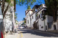 Beautiful european street Royalty Free Stock Image