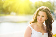 Beautiful european woman smiling Stock Image
