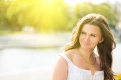 Beautiful european woman smiling Stock Image