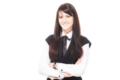 Beautiful european young girl with dark hairs Stock Image