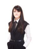 Beautiful european young girl with dark hairs Stock Photo