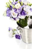 Beautiful eustoma flowers  bouquet Royalty Free Stock Images