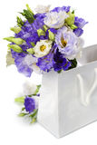 Beautiful eustoma flowers  bouquet Royalty Free Stock Photo