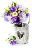 Beautiful eustoma flowers  bouquet Stock Image