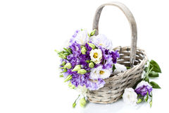 Beautiful eustoma flowers  bouquet Royalty Free Stock Photos
