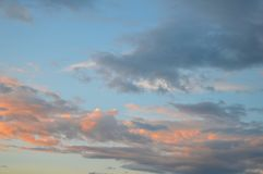 Beautiful eveing sky with clouds Royalty Free Stock Photo