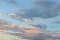 Beautiful eveing sky with clouds Royalty Free Stock Image