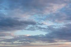 Beautiful evening sky Stock Images