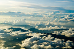 Beautiful evening aerial view of the cloudscape Royalty Free Stock Photos