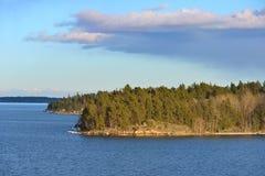 Beautiful evening in Baltic Sea Royalty Free Stock Photo