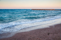 Beautiful evening on the coast of the Red Sea. Hurghada, Egypt Stock Photography