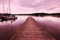 Beautiful evening at the lake Windermere Stock Photos