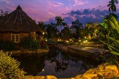 Beautiful evening lighting Resort Stock Image