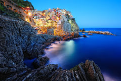 Beautiful evening in Manarola Royalty Free Stock Photos