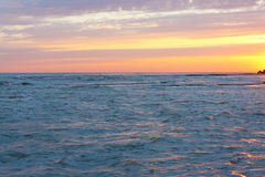 Beautiful evening sea against cloudy sky. Beautiful evening sea against the cloudy sky Royalty Free Stock Photography