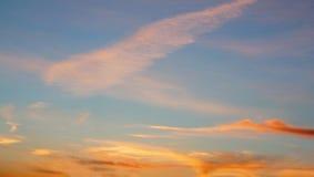 Beautiful evening sky Stock Photos