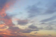 Beautiful evening sky Royalty Free Stock Photo