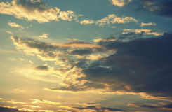Beautiful evening sky Royalty Free Stock Image