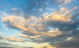 Beautiful evening sky with clouds Stock Photos