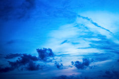 Beautiful evening sky with clouds Royalty Free Stock Images