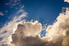 Beautiful evening sky with clouds Royalty Free Stock Image