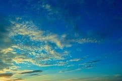 Beautiful evening sky. Royalty Free Stock Photography