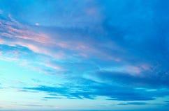 Beautiful evening sky. Stock Images