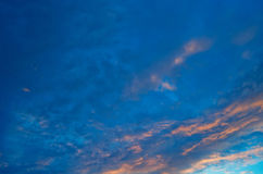 Beautiful evening sky. Royalty Free Stock Images