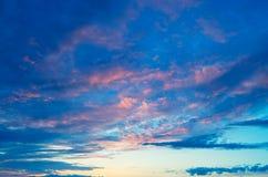 Beautiful evening sky. Royalty Free Stock Photo