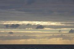 Beautiful evening sky in Latvia on the beach on the sea. Beautiful sunset sky in Latvia on the beach Royalty Free Stock Photo