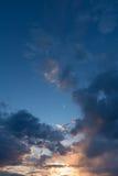 Beautiful evening sky, majestic sunset. Stock Photography