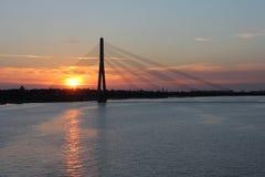 Beautiful evening sky in Riga in Latvia. Beautiful sunset sky in Riga in Latvia Royalty Free Stock Photos