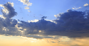 Beautiful evening sky with thunderclouds Royalty Free Stock Photo