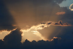 Beautiful evening skyscape Royalty Free Stock Photos
