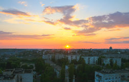 Beautiful evening spent on the roof Royalty Free Stock Photos