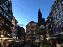 Sweet evening in strasbourg Royalty Free Stock Photo
