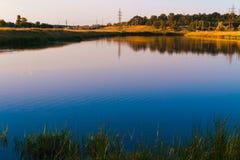 Beautiful evening summer landscape Royalty Free Stock Photo