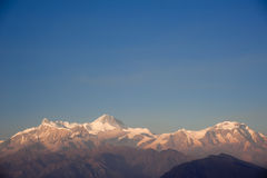 Beautiful evening view of the Himalayan mountains Stock Images