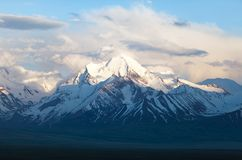 Beautiful evening view from Pamir mountain Royalty Free Stock Image