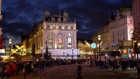 Beautiful evening view of Piccadilly Circus in London - LONDON, ENGLAND - DECEMBER 10, 2019