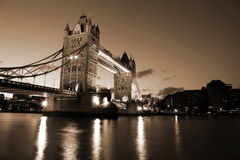 Beautiful  Evening View of Tower Bridge, London, UK Stock Image