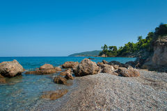 Beautiful Evia Island Beach Royalty Free Stock Images
