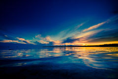 Beautiful evocative sunset reflection Royalty Free Stock Photo