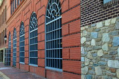 Beautiful example of architecture in brick.stone and many windows Stock Images
