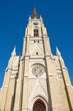 Beautiful example of Neo-Gothic cathedral Name of Mary Church in Novi Sad Stock Images