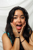 Beautiful Excited Young Latina Royalty Free Stock Photography