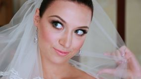 Beautiful And Excitied Bride stock video footage