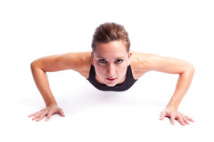 Beautiful exercise woman Royalty Free Stock Images