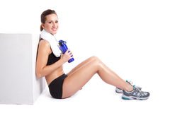 Beautiful exercise woman Stock Photography