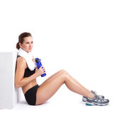 Beautiful exercise woman Stock Image